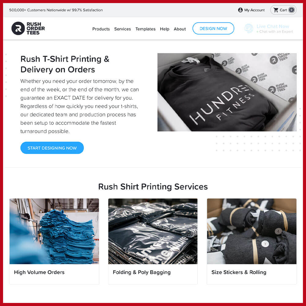 RUSH print on demand
