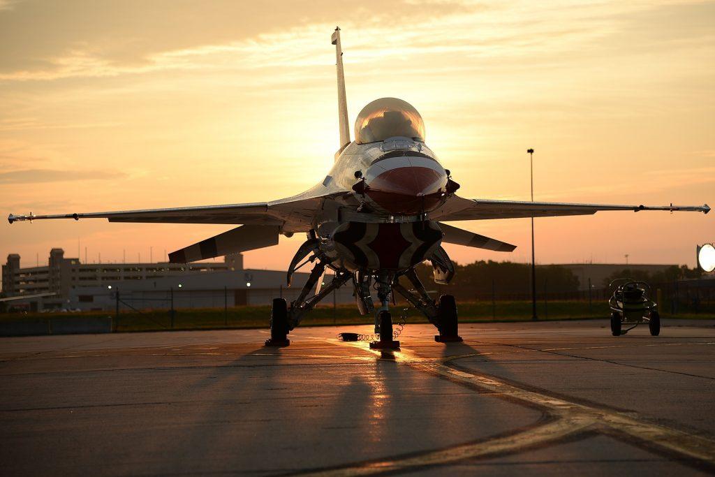 The F-16 Thunderbird. Photo via US Air Force.