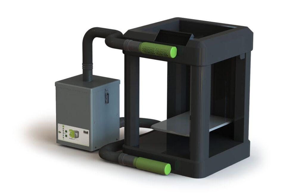 How the 3D PrintPRO 3 integrates with 3D printers. Image via BOFA International