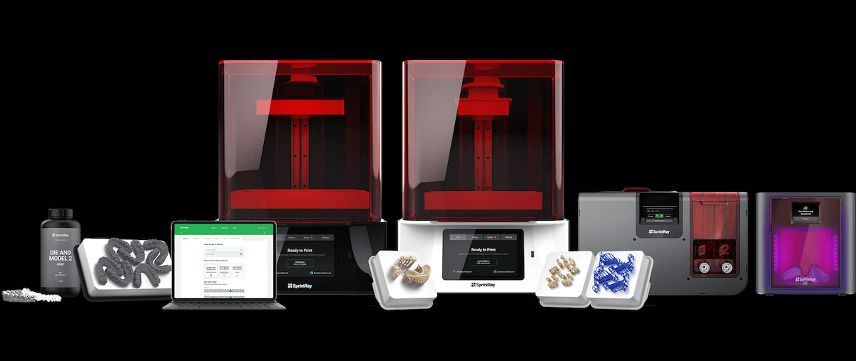 The range of SprintRay 3-D printers and products. Image/SprintRay