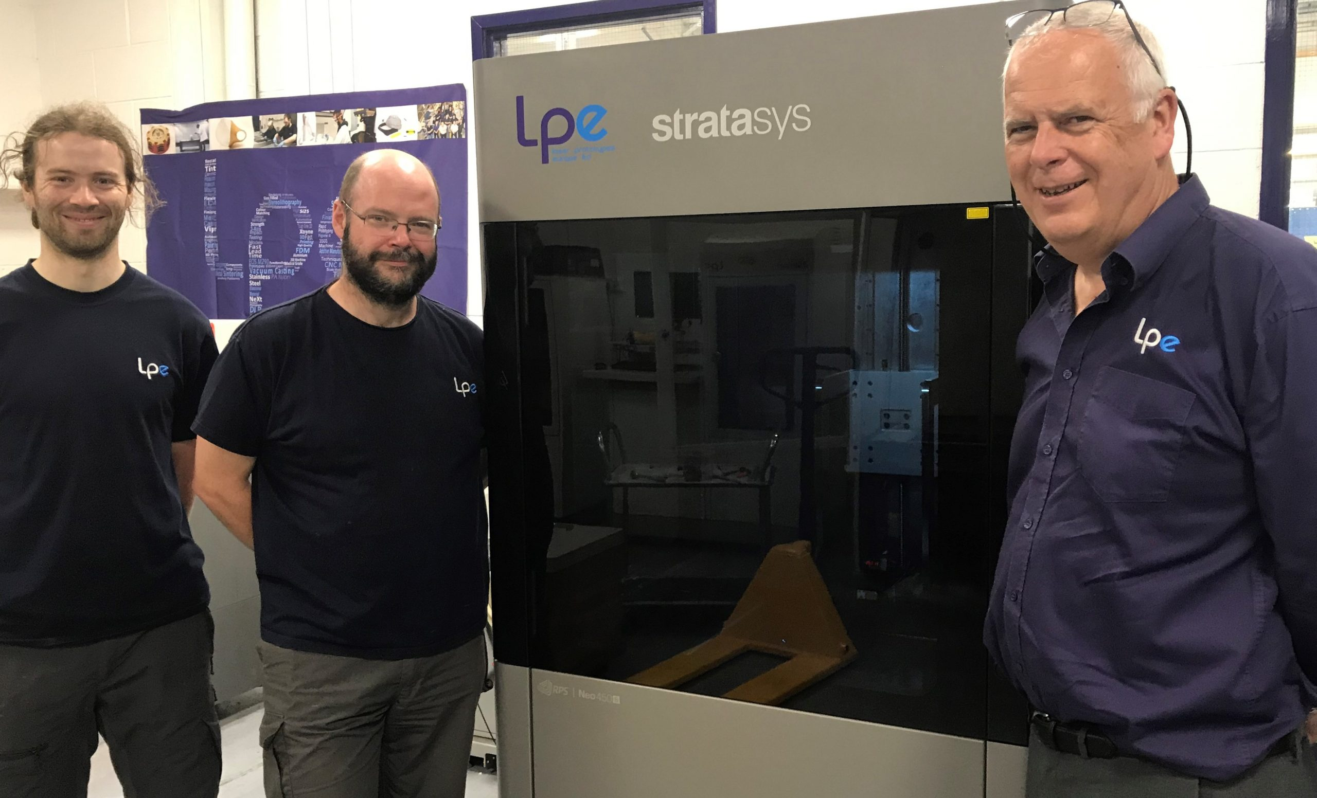 LPE has bolstered its capabilities with a Neo450s 3D printer from Stratasys. Photo via Stratasys.