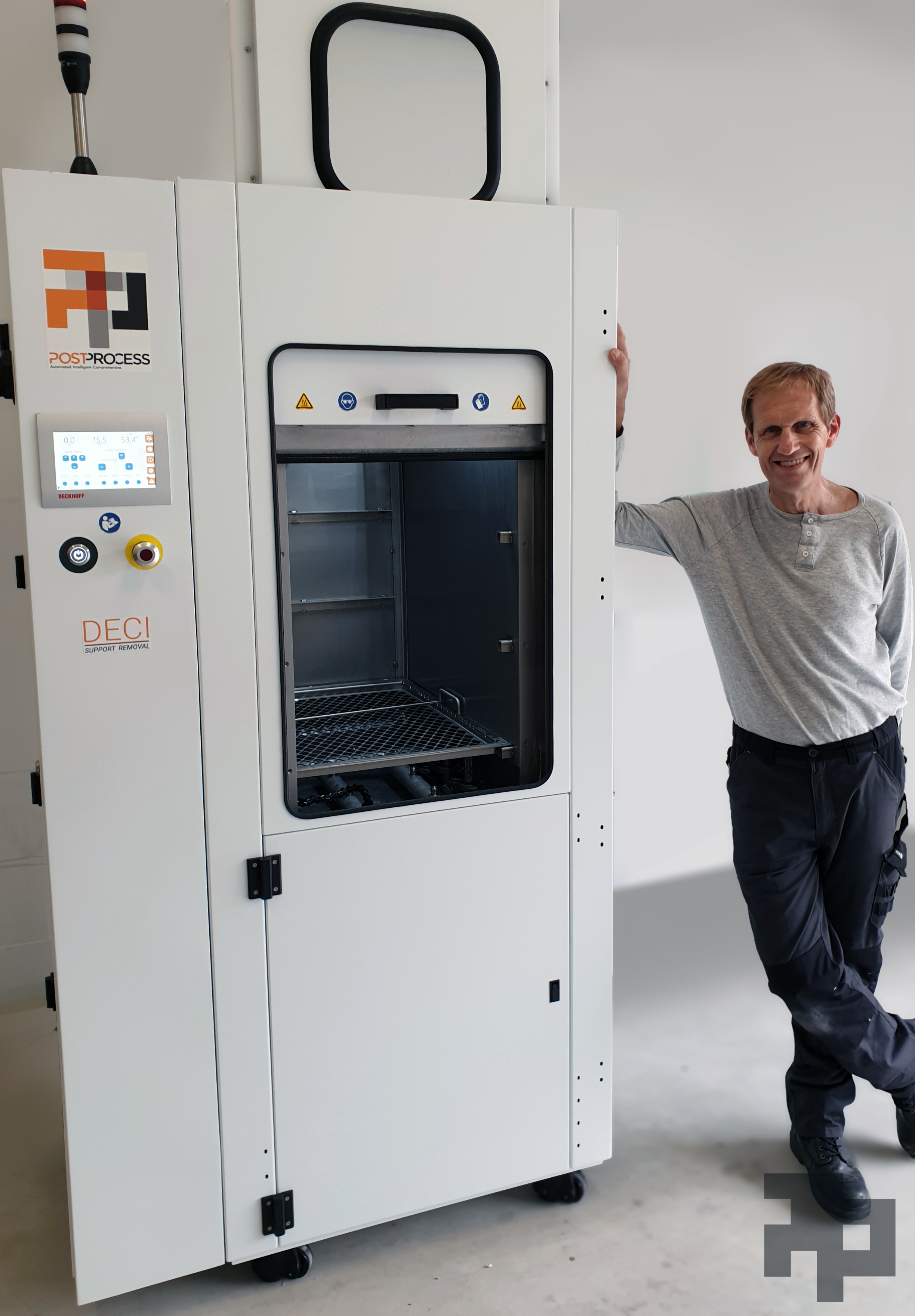 Fraunhofer has installed a DECI support removal system from PostProcess Technologies. Photo via PostProcess Technologies.