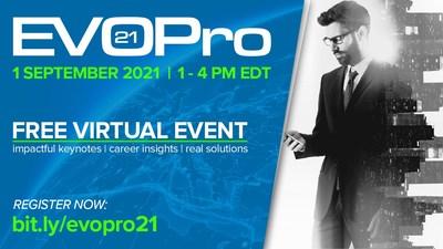 EVOPro Free Virtual Event description and registration link