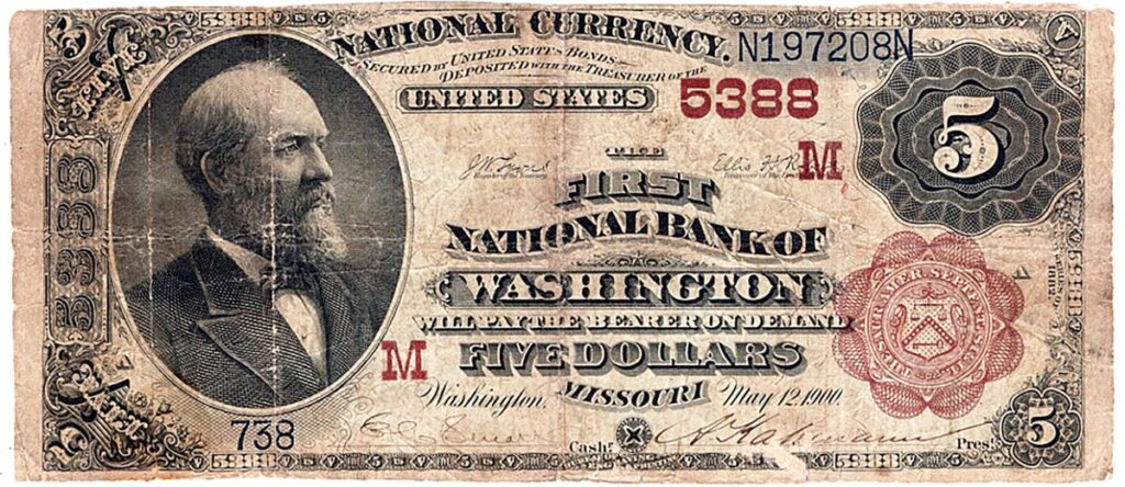 Century-old $5 bill printed in Washington expected to bring thousands of dollars   Local News