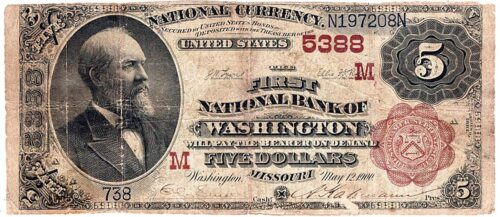 Century-old $5 bill printed in Washington expected to bring thousands of dollars | Local News