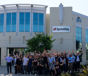 The current SprintRay team outside their Los Angeles facility. Image/SprintRay