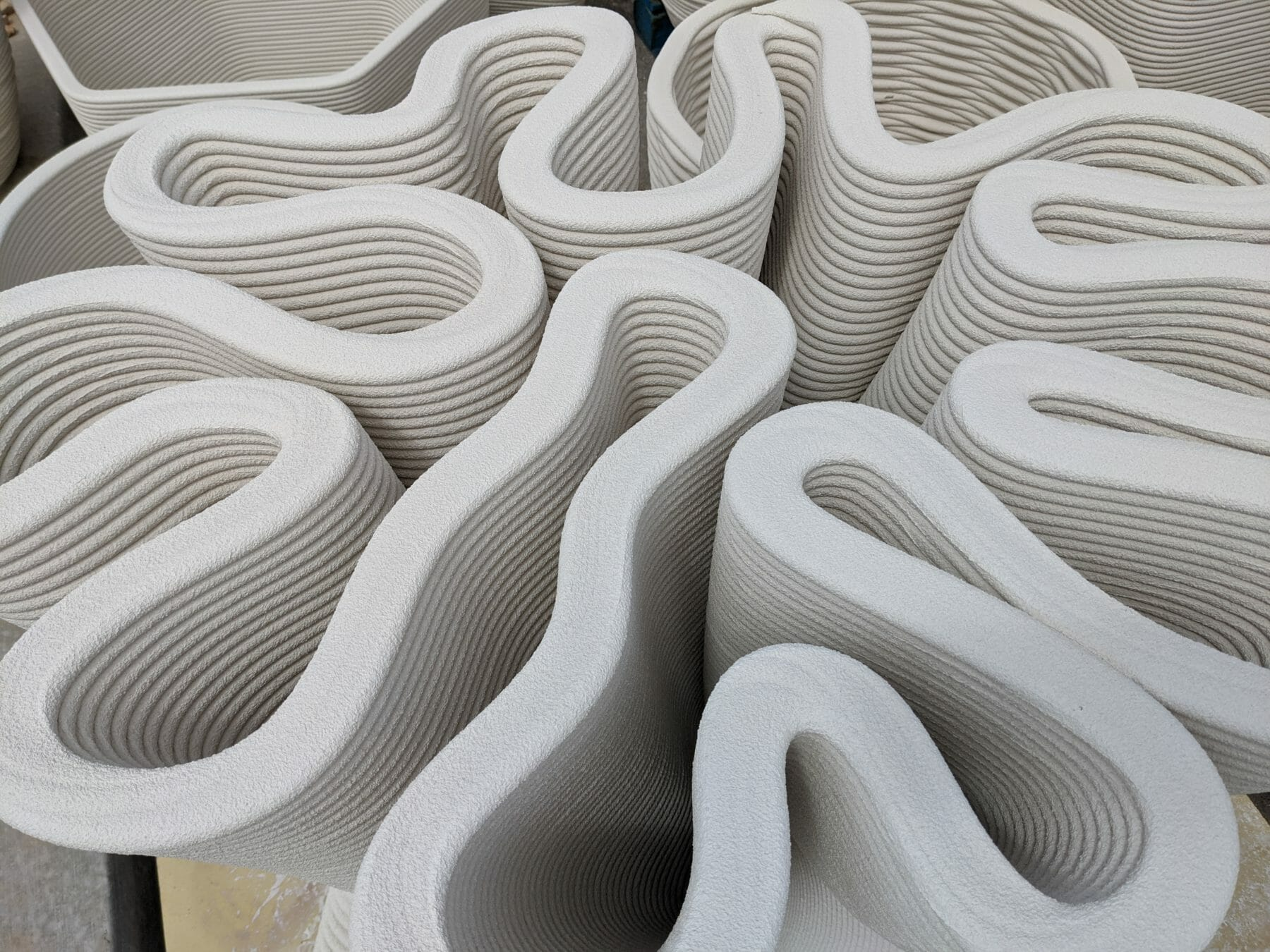 Pikus 3D has tested Sika admixture-based mortar and inks for printing products and smaller elements. Photo via Pikus 3D.