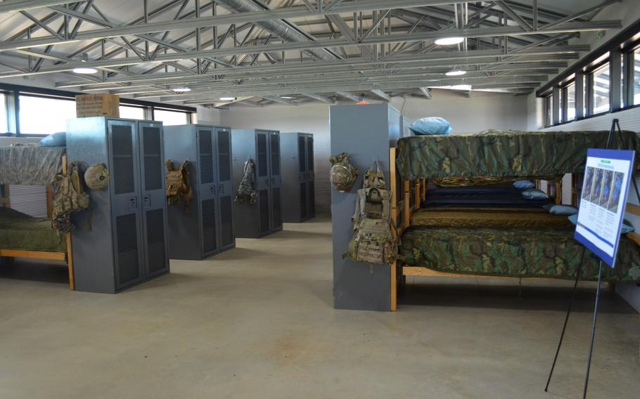 The Texas National Guard on Monday unveiled a new barracks facility at Camp Swift, Texas, constructed using 3D-printing technology. The barracks can house up to 72 soldiers and cost about one-third of the price of a traditional barracks, officials said.